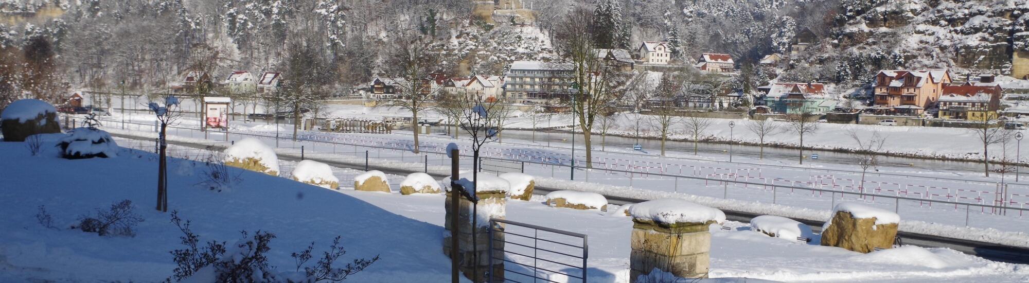 Winterblick vom Elbresort
